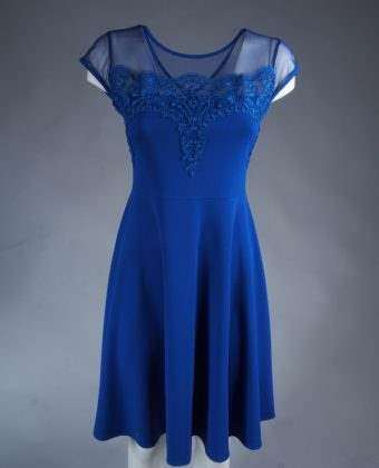 Šaty M362E blue lace